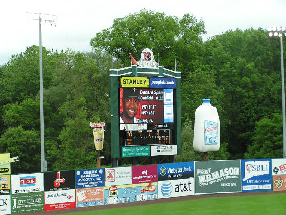 A brand new scoreboard - New Britain Stadium