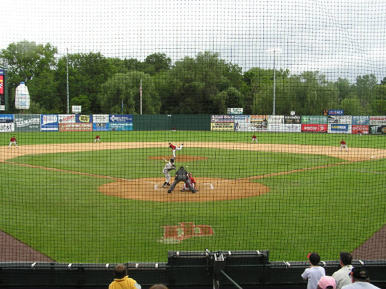 New Britain Stadium from behind Home Plate