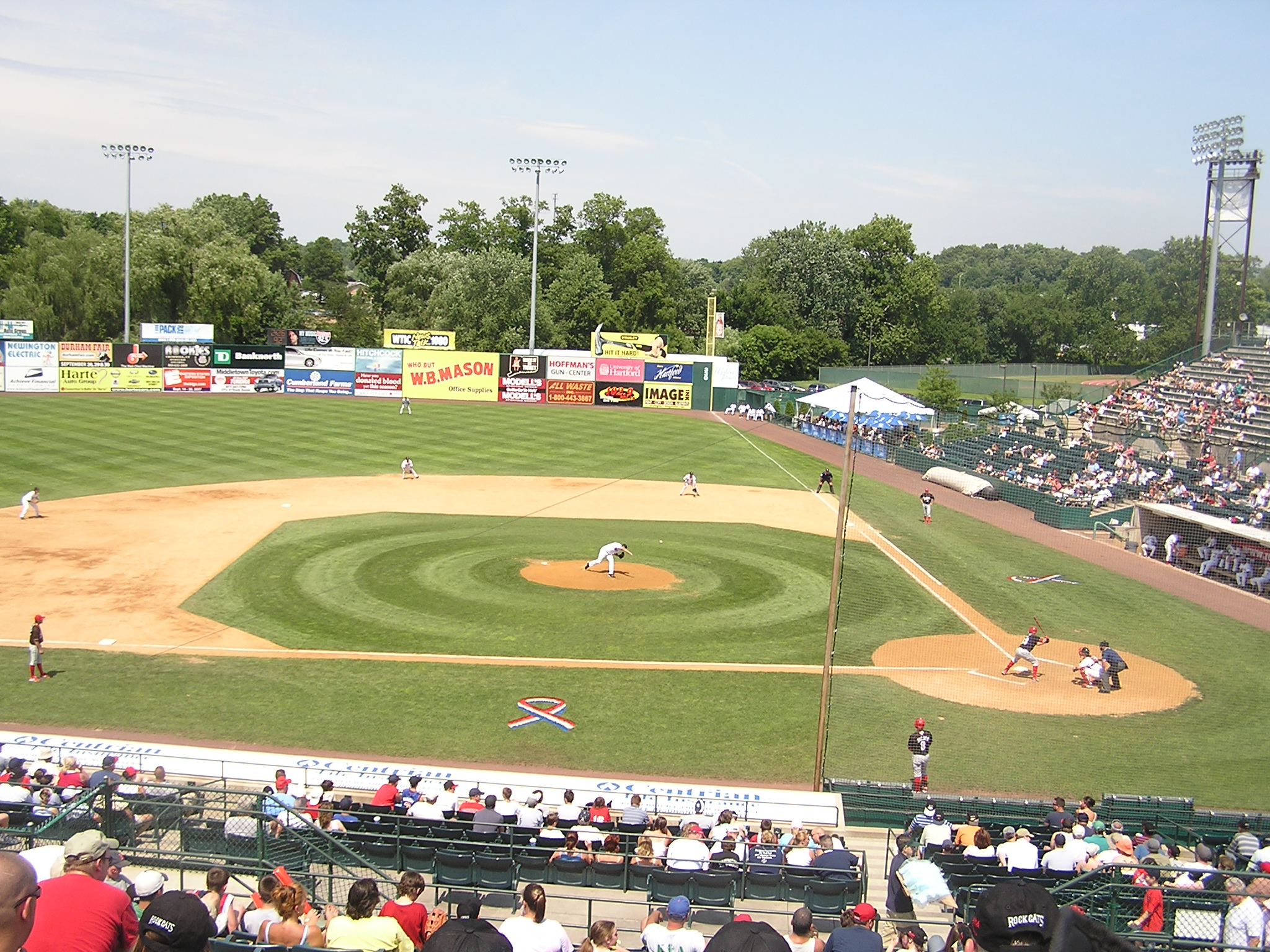A hot summer day in New Britain, Ct. - NB Stadium